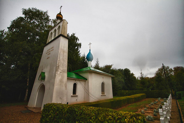 Russian military cemetery and chapel near St-Hilaire-Le-Grand