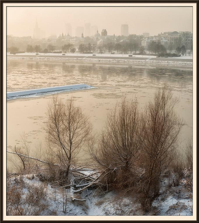 River Vistula and Warsaw