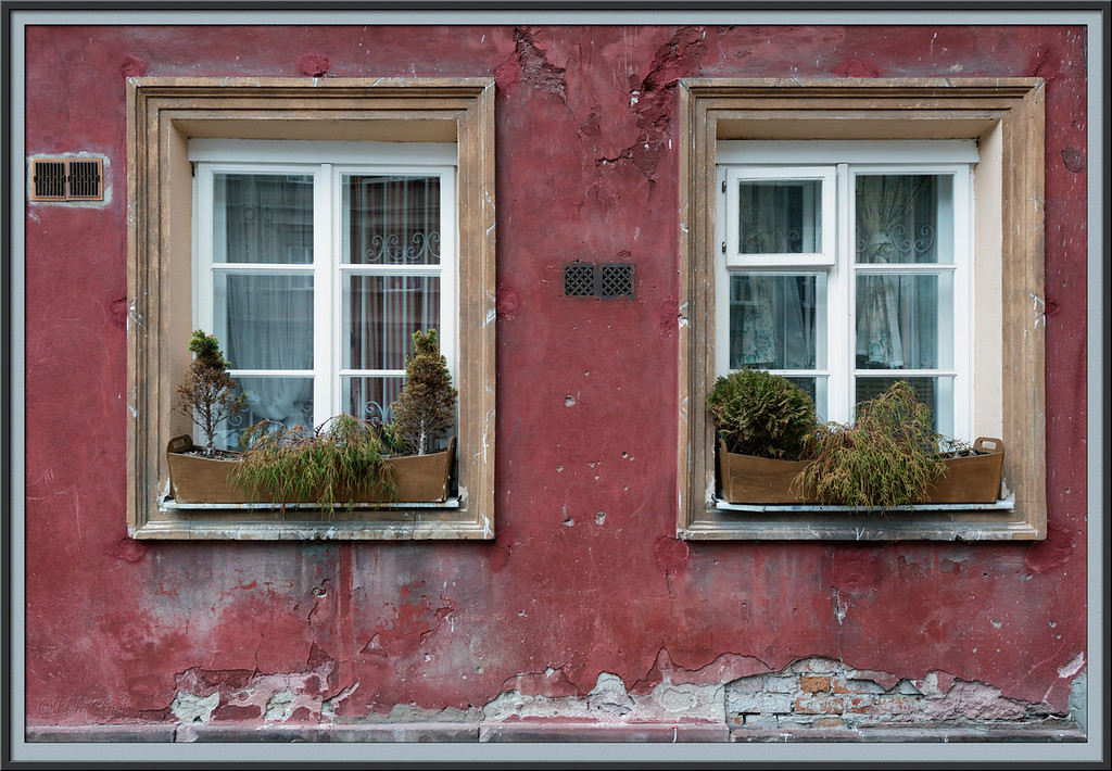 Windows in Old Town of Warsaw