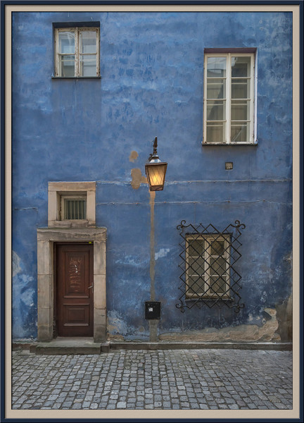 Blue House in Old Town Warsaw