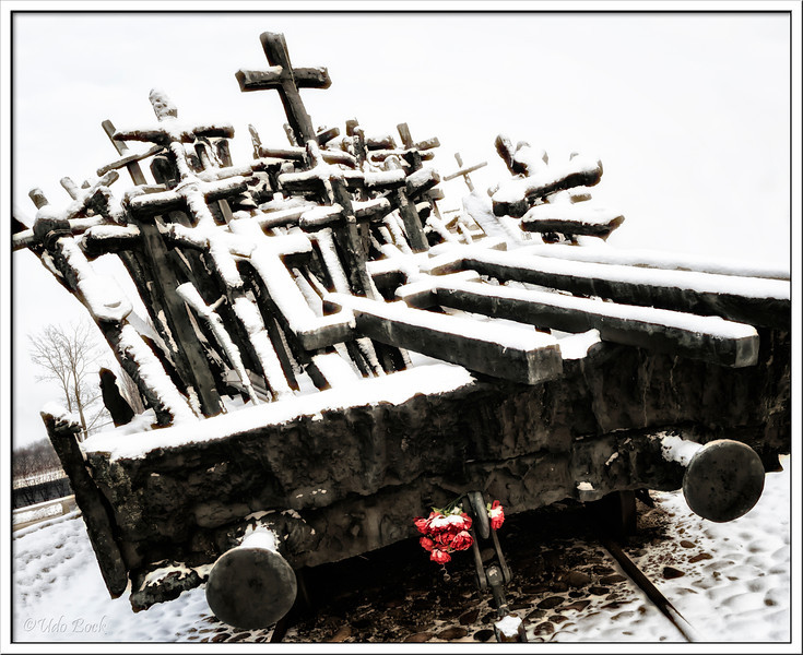 Monument remembering on the massaker of Katyn, committed by the NKWD.