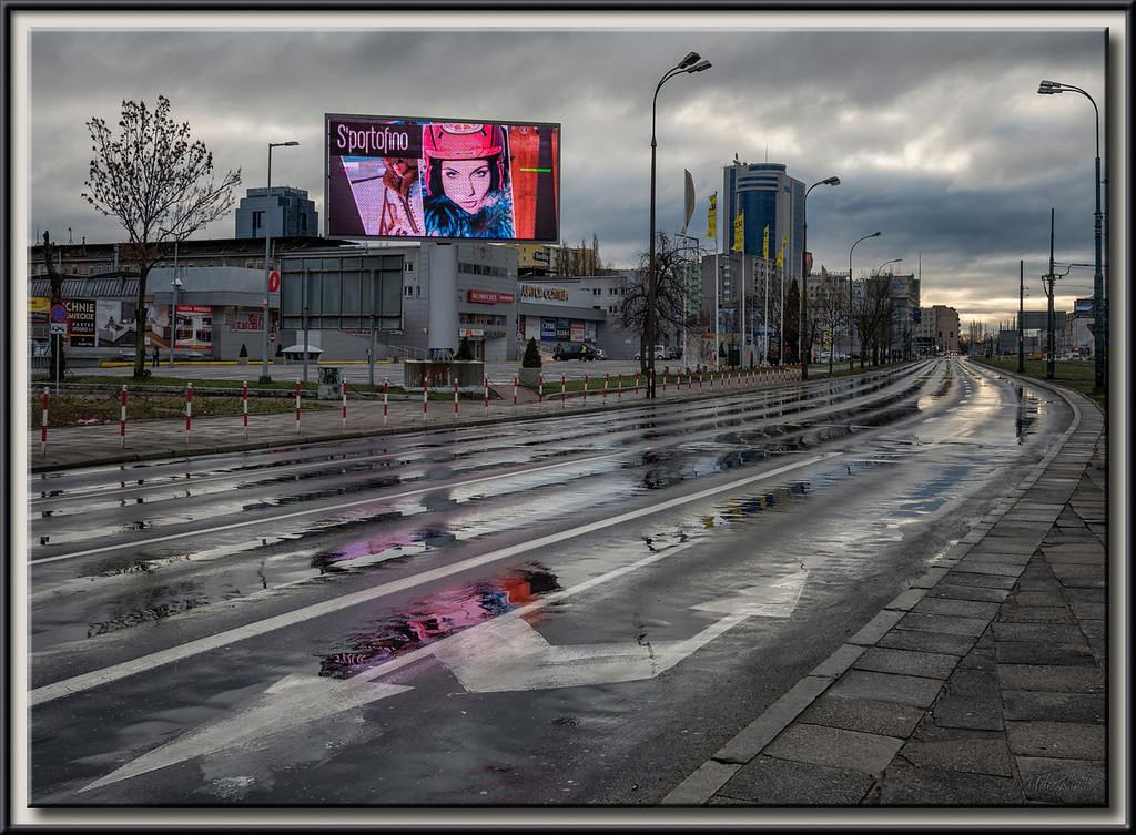 Street Scene in Warsaw