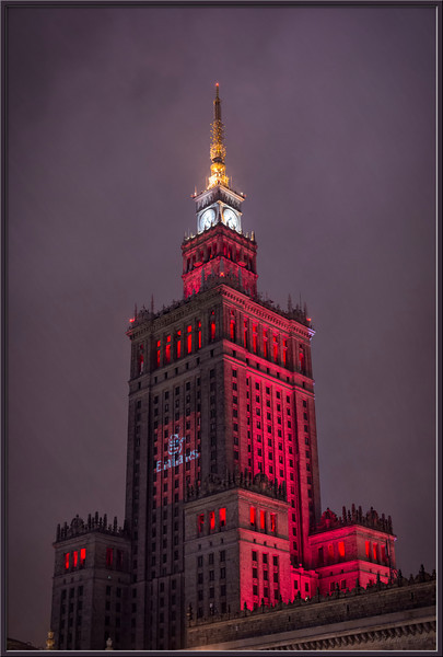 Palace of Culture and Science at night, Warsaw