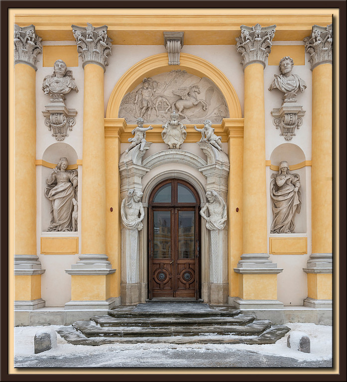 Detail View of the Palace of Wilanow, Warsaw