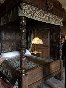 Wooden bed carved in the 1400's.
