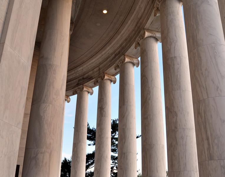 Pillars of Jefferson Memorial