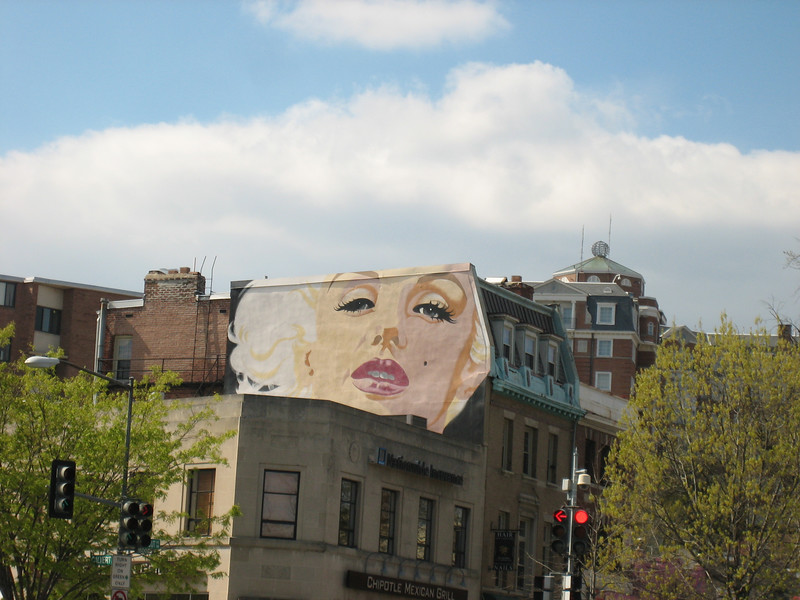 Marilyn Monroe above Chipotle