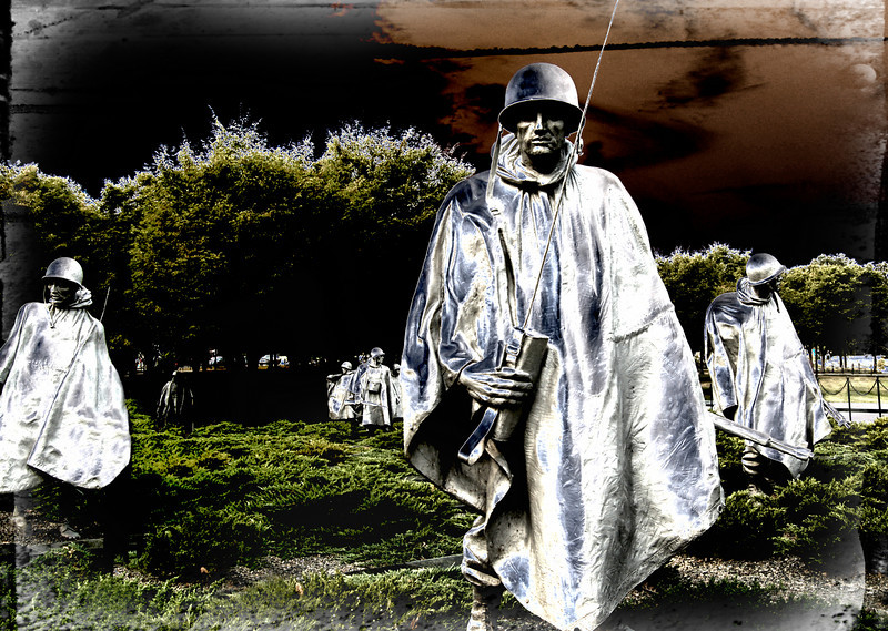 The Korean War Memorial, Washington, DC.