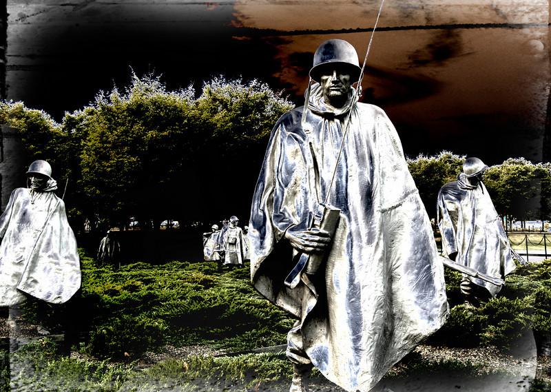 The Korean War Memorial, Washington, DC.