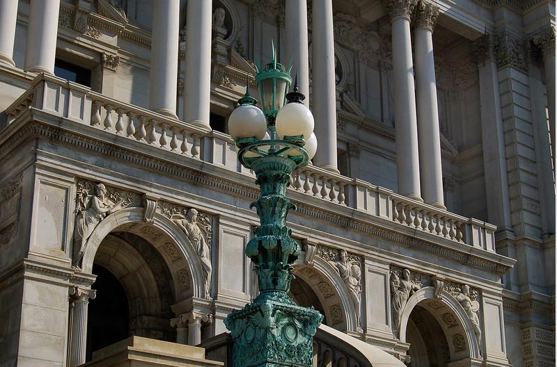 Entrance to the Library of Congress, Washington, DC.