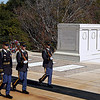 Changing of the guards at Arlington National Cemetery.