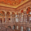 From the upper level of the lobby of the Library of Congress, Washington, DC.