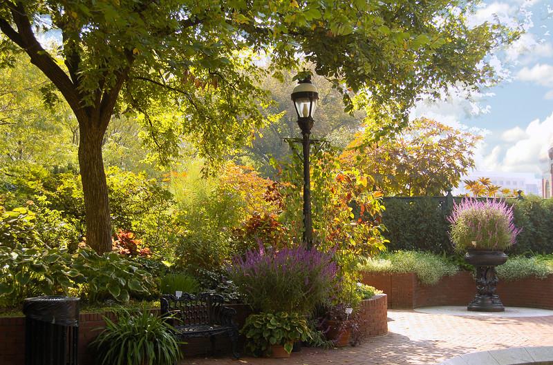 The Smithsonian Castle gardens, Washington, DC.