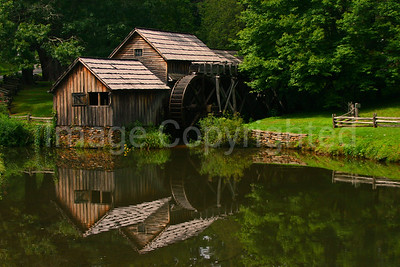 Wide view Mabry Mill reflection - 10/19/08