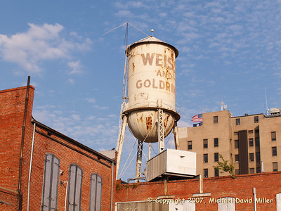 Old water tower in downtown Alexandria, Louisiana, Oly E330, ZD14-45 + EC14 Teleconverter