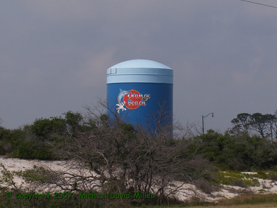 Water tower at Orange Beach, Alabama. Oly E330, ZD14-45 + EC14 Teleconverter