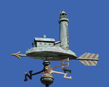 Weather Vane depicting the Fire Island Light House.