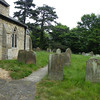 The churchyard.