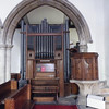 The organ, probably built in the 1800's