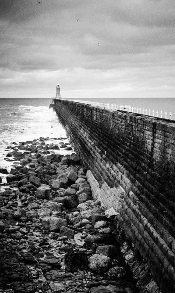 Tynemouth, England<br /> North Pier.