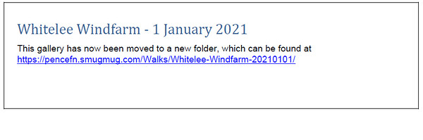 Whitelee Windfarm 1 January 2021
