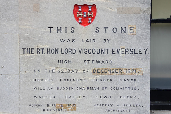 Foundation Stone of the Guildhall, Winchester<br /> 8 February 2013