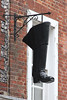 Boot hanging outside Clarks, Winchester<br /> 8 February 2013
