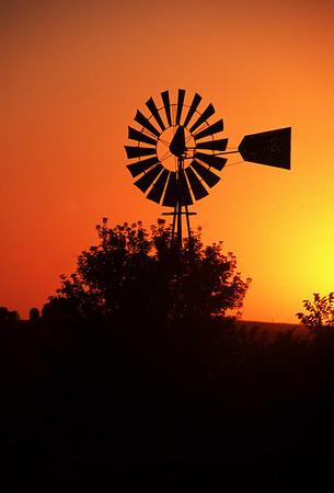 Sunset Windmill