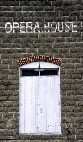 Opera house door - Theilman, MN
