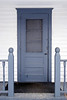 Blue Schoolhouse Door