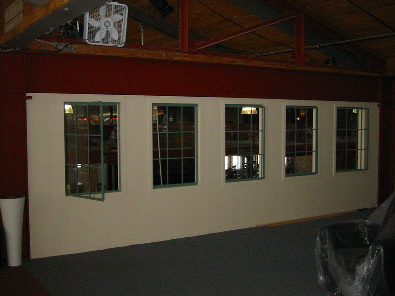 "Window wall for the set of ""The Contender"""