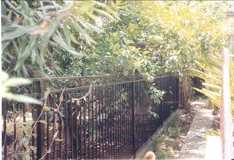Side yard fence - Stewart Estate, Monrovia, CA