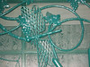Dragon fly detail on security screen - Temple City, CA