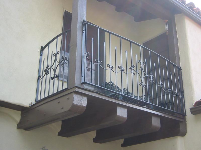 Balcony rail - Meyer Residence, San Marino, CA