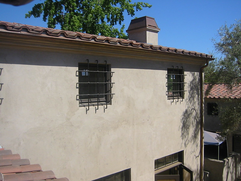 Window grilles - Levy residence, Pasadena, CA