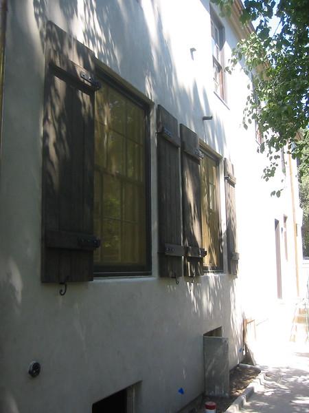 Shutter hardware - Levy residence, Pasadena, CA
