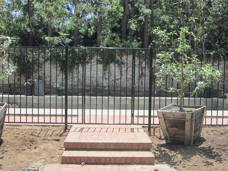 Pool fence - Pyle residence