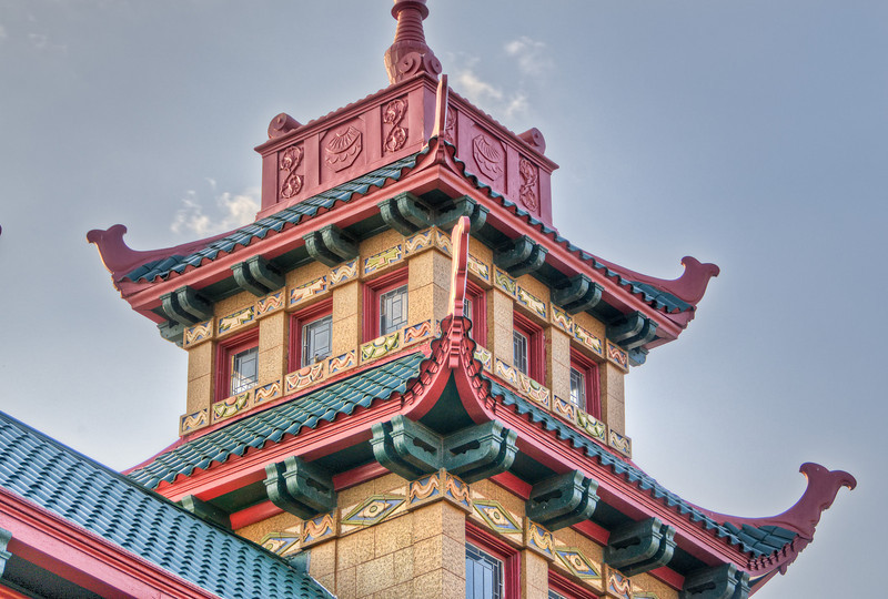 Wonderful architecture on display in Chicago's Chinatown.