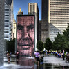 """The Crown Fountain"" by artist Jaume Plensa, in Millenium Park, Chicago,IL."