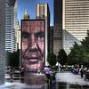 """The Crown Fountain"" by artist Jaume Plensa, in Millenium Park, Chicago,IL."