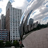 """Cloudgate"" Sculpture by British artist Anish Kapoor in Millenium Park, Chicago, IL."