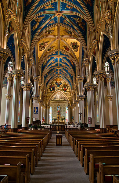 """University of Notre Dame's Sacred Heart Church"" on the campus of Notre Dame University, South Bend, Indiana."