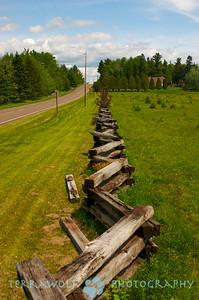 Antique farm fence