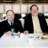 2nd of 2 visits to the World Trade Center. 3/5/00 Dad and I had lunch on top before going to an Ocean Liner Museum event. Picture taken by a fellow diner who mailed me a print sometime later. We were scheduled to stay at the Marriott Hotel about a week after 911 for an opening of one of their displays. I don't think we ever got to see it, after the big event.