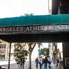 Fellow photowalkers passing the Los Angeles Athletic Club.