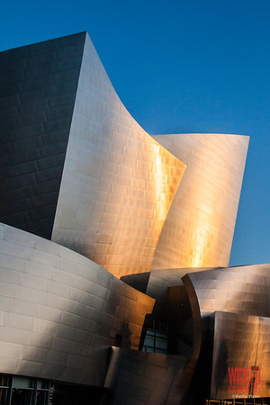 Disney Concert Hall at sunrise