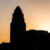 L.A. City Hall at sunrise.