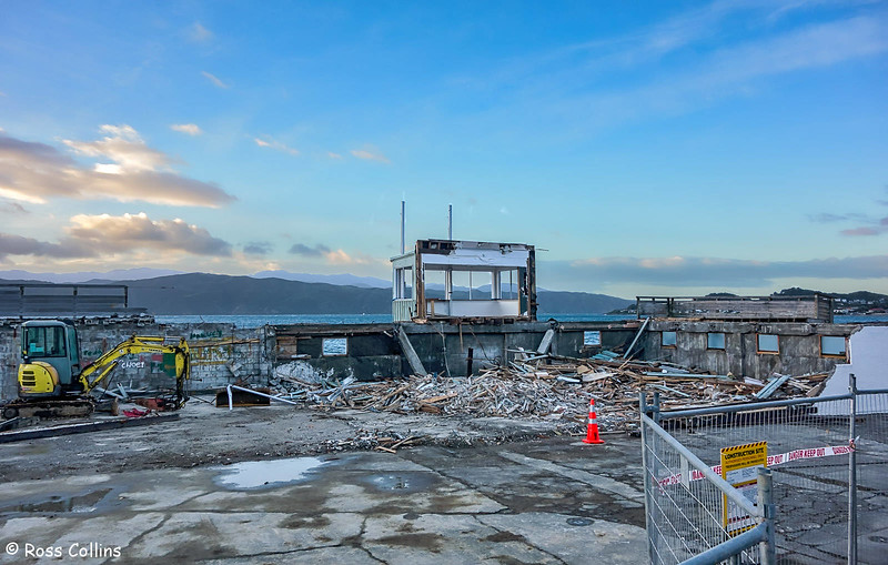 Demolition of Worser Bay Boating Club building, 21 May 2018