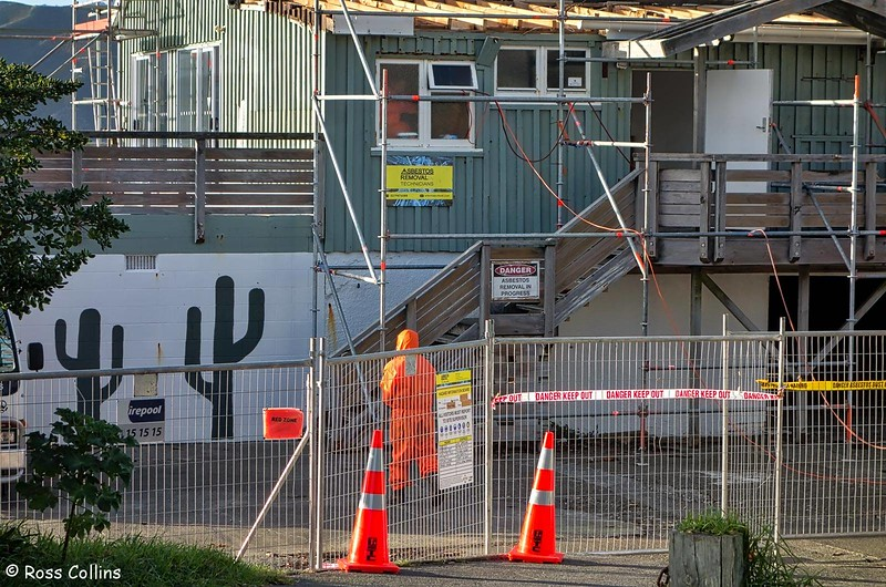 Demolition of Worser Bay Boating Club building, 7 May 2018