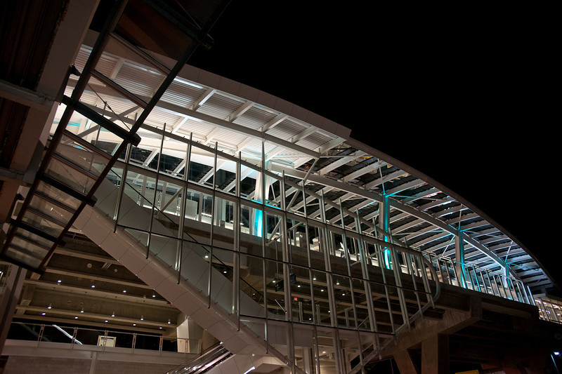 YVR-Airport station from below.  This is how it looks for travellers entering from the international arrivals area.
